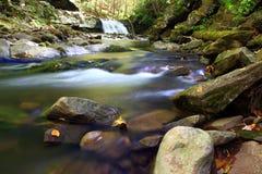 Waterfall and stream. A waterfall and stream landscape image Royalty Free Stock Photography