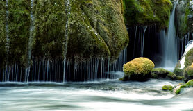 Waterfall and stream Royalty Free Stock Image
