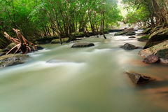 Waterfall and  stream in the forest Thailand. Waterfall wangyai and  stream in the forest kantralak sisaket of Thailand Stock Photography