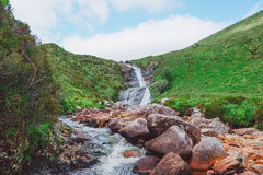 Waterfall Stream, Isle of Skye, Scotland Royalty Free Stock Images