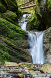 Waterfall on stream. Small watterfall on stream in Romania Royalty Free Stock Images