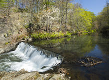 Waterfall and Stream. Time Lapse Waterfall and Stream (soft motion blur Stock Image