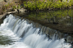 Waterfall and Stream. Time Lapse Waterfall and Stream (soft motion blur Stock Images