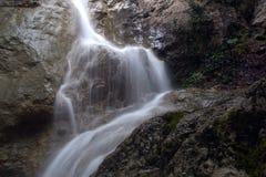 Waterfall Su Ahande. Beautiful ephemeral waterfall in Crimea Royalty Free Stock Photos