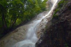 Waterfall Su Ahande. Beautiful ephemeral waterfall in Crimea Stock Photo