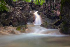 Waterfall Su Ahande. In crimea Stock Photography
