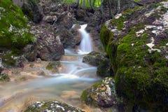 Waterfall Su Ahande. In crimea Stock Photo