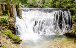 Waterfall Sum, Vintgar gorge, Slovenia Royalty Free Stock Photography