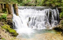 Waterfall Sum, Vintgar gorge, Slovenia Royalty Free Stock Photography