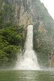 Waterfall in Sumidero Canyon Stock Images