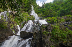 Waterfall in summer forest at  Cha Om, Kaeng Khoi District, Sara Royalty Free Stock Photos