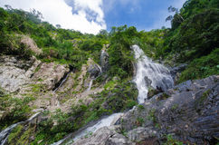Waterfall in summer forest at  Cha Om, Kaeng Khoi District, Sara Stock Image