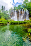 Waterfall in summer Forest Stock Photo