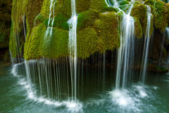 Waterfall in the summer Stock Image