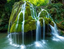 Waterfall in the summer Royalty Free Stock Photo