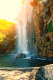 Waterfall at sunrise Royalty Free Stock Images