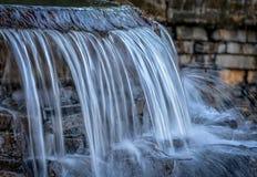 Waterfall at sunset Stock Photo