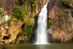 Waterfall and sunshine Stock Image