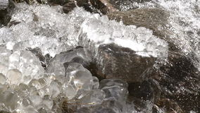 Waterfall Surrounded by Ice stock video footage