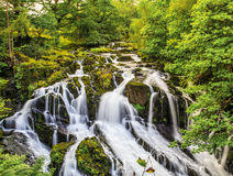 Waterfall. Swallow water fall in Wales, UK Stock Images