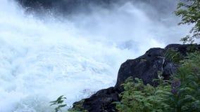 Waterfall in Sweden stock video