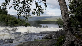 Waterfall in Sweden Royalty Free Stock Image