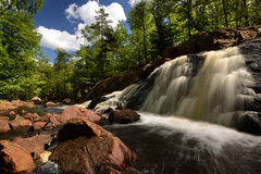 Waterfall. In Sweden which called Danish Fallet Royalty Free Stock Image