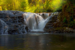 Waterfall at Sweet Creek Hiking Trail Complex stock photography