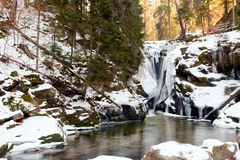 Waterfall Szklarka Royalty Free Stock Photography