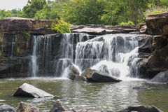 The waterfall in Tad Tone waterfall national park Royalty Free Stock Photography