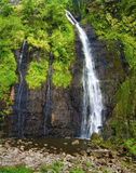 Waterfall on Tahiti Stock Images
