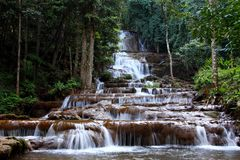 Waterfall, Tak province, Thailand. Royalty Free Stock Photos