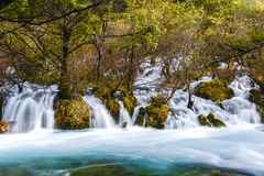 Waterfall taken at Jiuzhaigou National Park in Sichuan Province, China Stock Photography