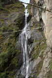 Waterfall, Takthsang Goemba, Bhutan Stock Photos