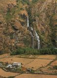 Waterfall in Tal, Nepal Stock Photography