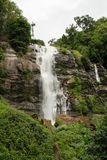 A waterfall. On tall valley in Thailand Stock Images