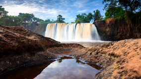 A waterfall in Tana River, Kenya. A majestic waterfall in the Tana River in Sagana, Kenya. This section of the river is ideal for white water rafting adventure Stock Photography
