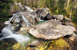 Waterfall in Tatra mountain, Slovakia Royalty Free Stock Images
