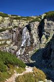 Waterfall. In the Tatra Mountains Stock Image