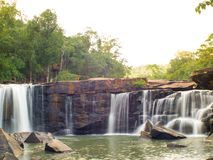 Waterfall in the Tatton National Park of Thailand. Royalty Free Stock Photo
