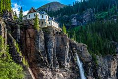 Waterfall in Telluride, Colorado stock photos