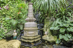 Waterfall in Thai garden Stock Images