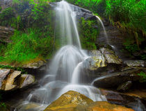 Waterfall in thai national park. Stock Photo