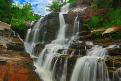 Waterfall in thai national park. Stock Images