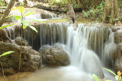Waterfall. In Thailand royalty free stock photos