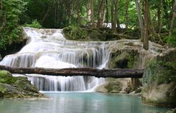 Waterfall in thailand. Lower fall at Erawan, Thailand Royalty Free Stock Photography