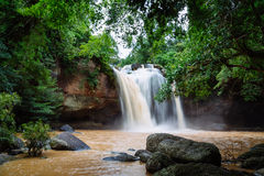 Waterfall in the Thailand. Big mountain Stock Photography
