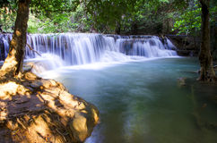 Waterfall in Thailand. Stock Photo