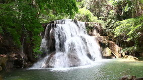 Waterfall in Thailand. Huay mae kamin waterfall in Thailand stock video
