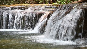 Waterfall in Thailand. Huay mae kamin waterfall in Thailand stock video footage